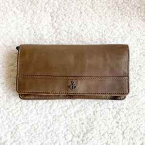 """NEW Light Brown Harbour 2nd Leather Wallet 7x3.5"""""""